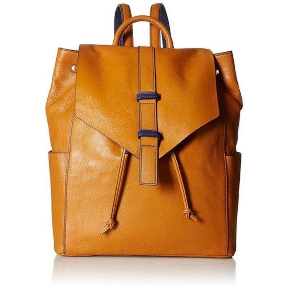 Vera Bradley Big Sky leather drawstring backpack